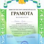 Кубок Вятки Грязных О. 2 м 01.2016